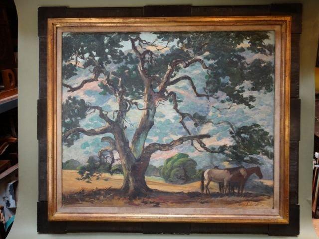 "Carl Schmidt (1885-1969) ""Oak Canyon"" Oil on Canvas"