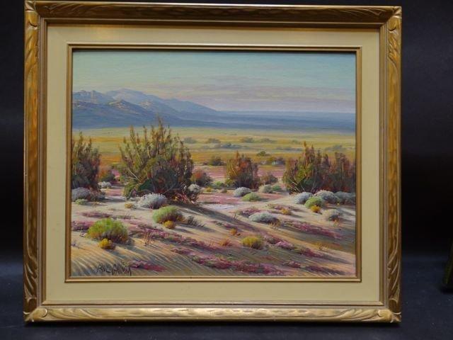 "Paul Grimm [1891-1974] ""Springtime on the Desert"" Oil"