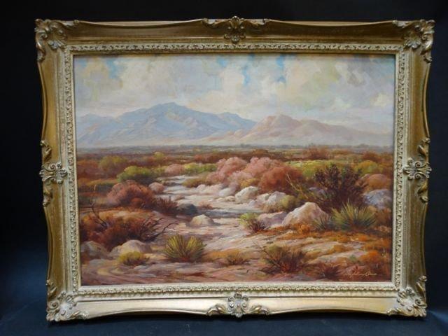 John Anthony Conner California Desert Oil on Canvas