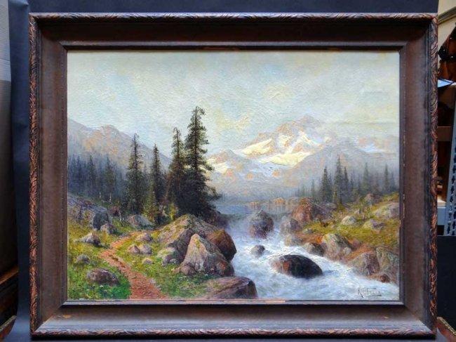 Karl Eugene Felix (1837 – 1906) Mountain Landscape P441