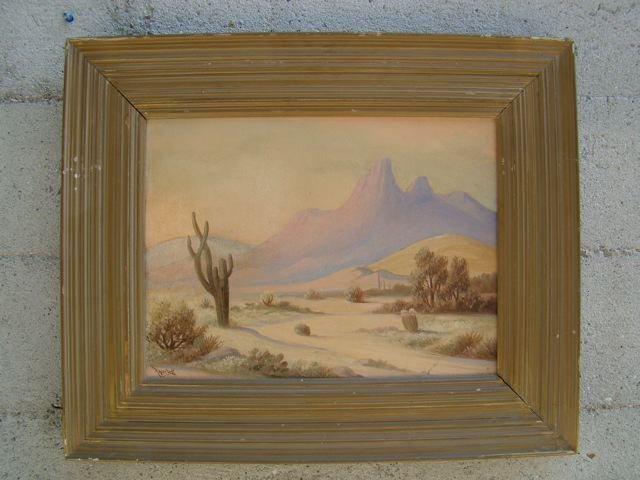 Roger Scott Desert Landscape Oil on Canvas P277