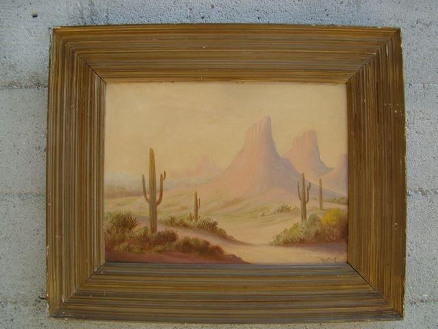 Roger Scott Desert Landscape Oil on Canvas P278