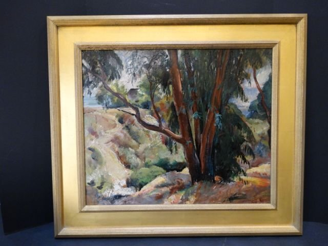 Ejnar Hansen: California Landscape, Oil on Canvas P1078