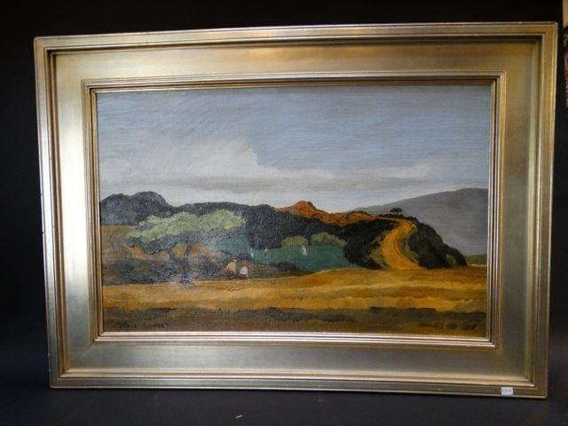 """Elmer Plummer: Oil on Canvas """"Golf Scene"""" 1936 P1180"""