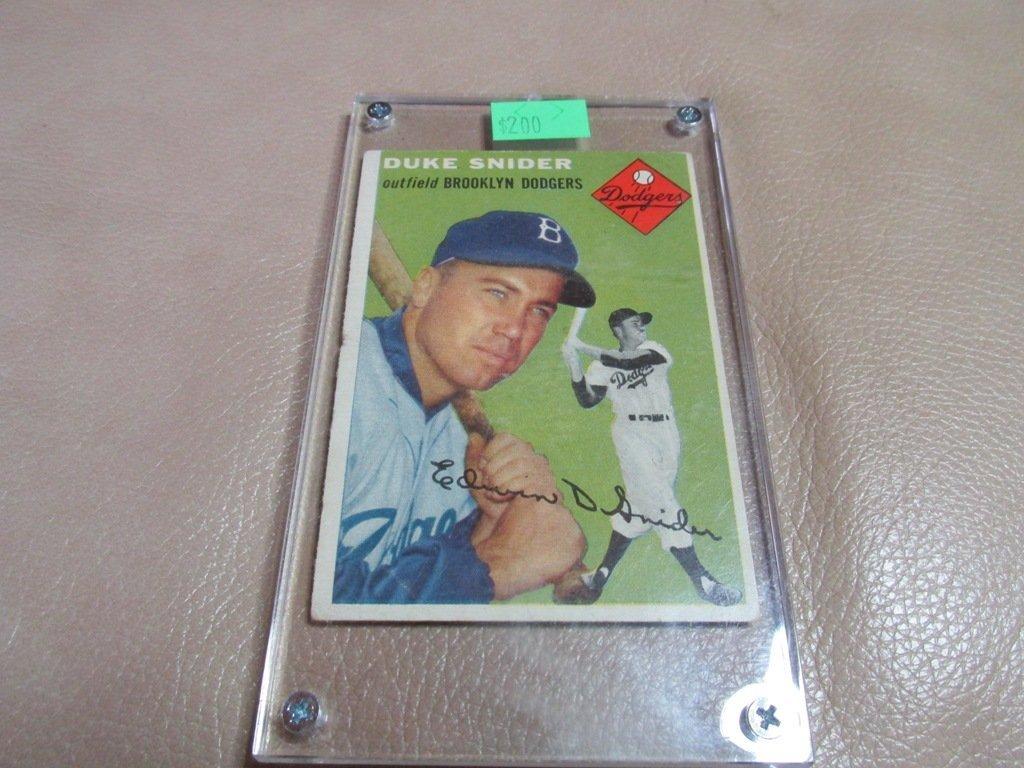 1954 Duke Snyder Baseball card