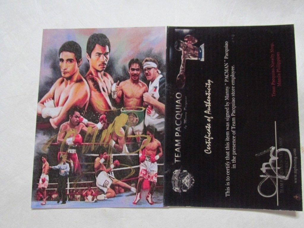 Manny Pacquiao Autographed card. Has COA