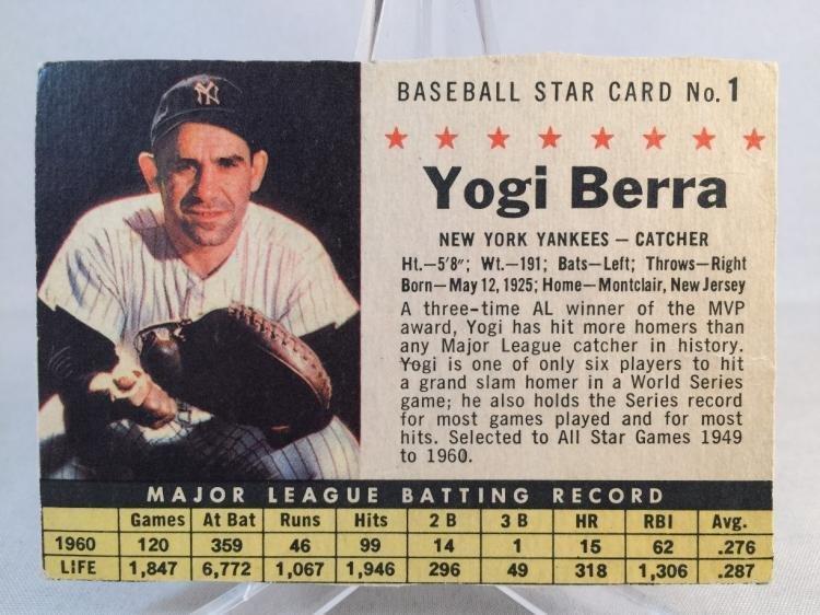 1961 Post Yogi Berra #1