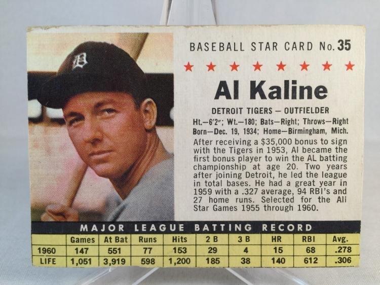 1961 Post Al Kaline #35