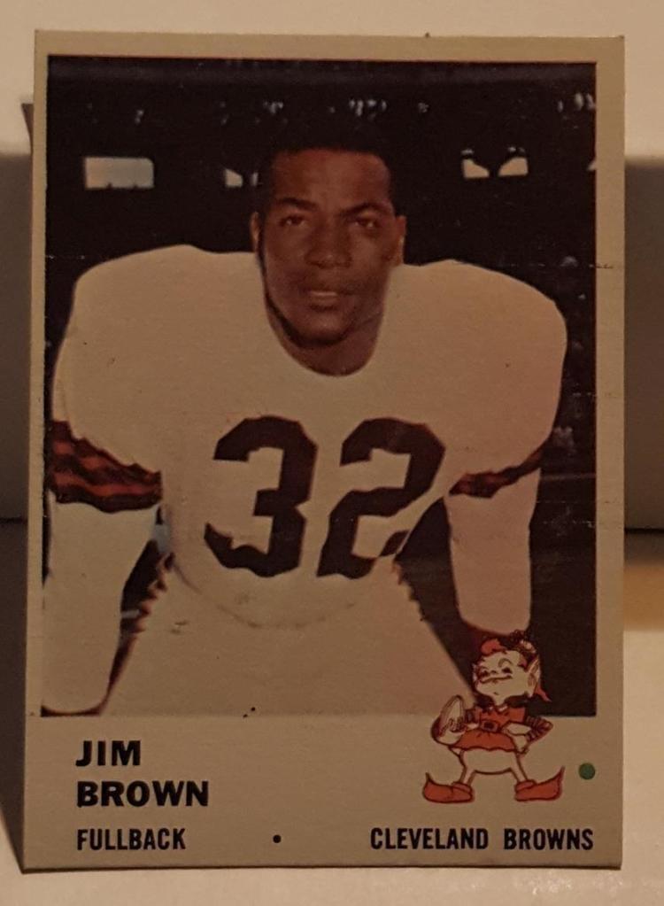 1961 Fleer Football #11 Jim Brown