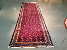 "4x11 Hand-knotted Persian ""hamedan"" All-over Design"