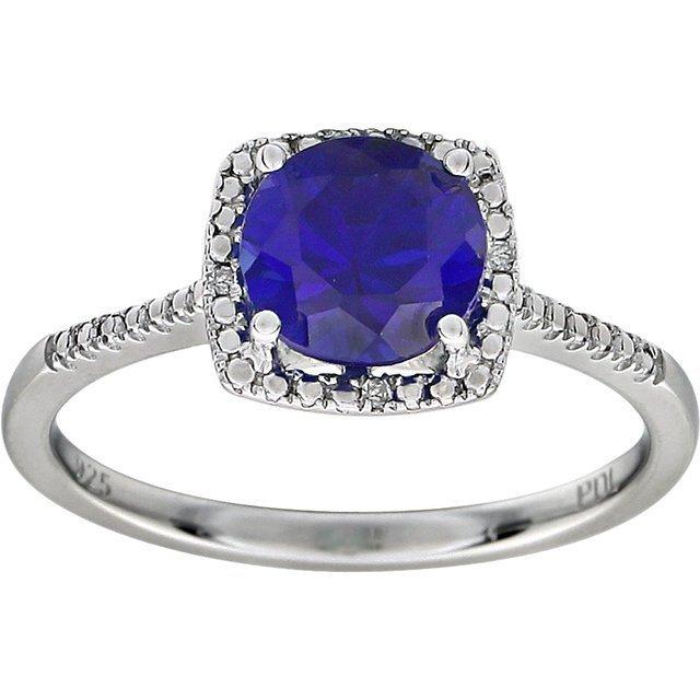 RING SAPPHIRE DIAMOND SIZE 5