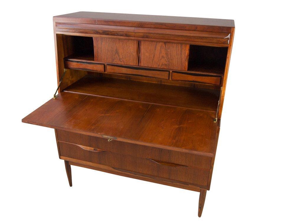 Rosewood Secretary Desk Danish Mid Century Modern - 4