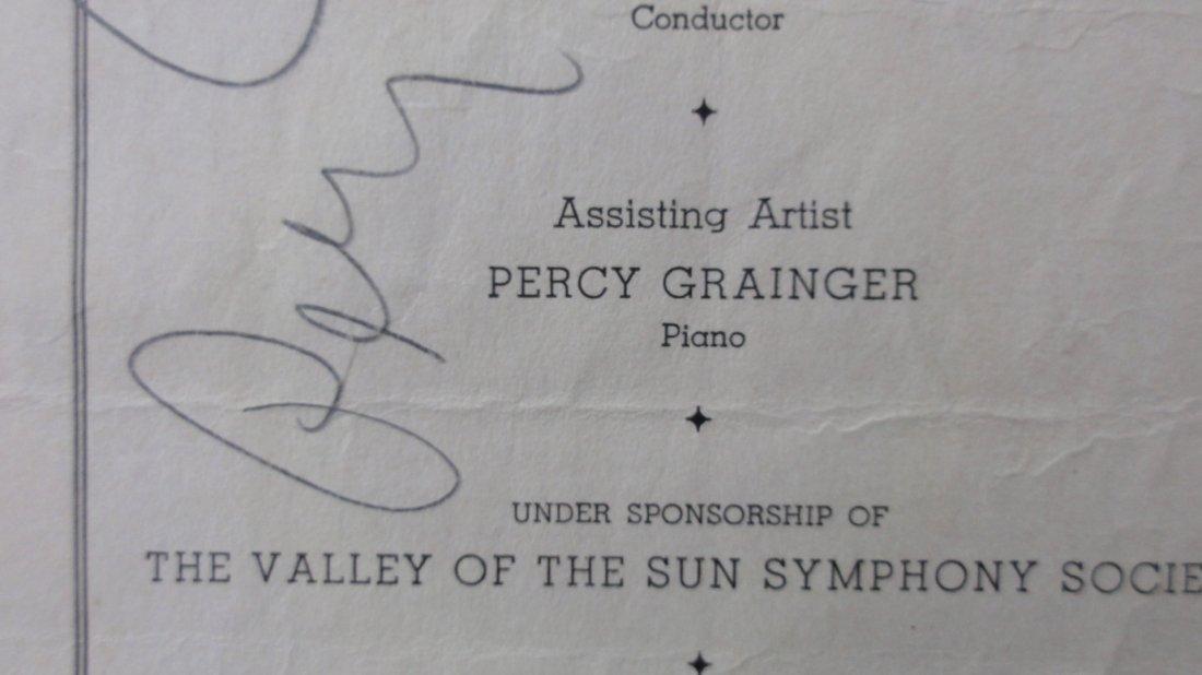 Percy Grainger Autograph & Concert Program from Phoenix - 4