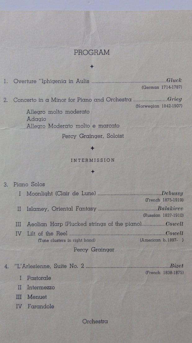 Percy Grainger Autograph & Concert Program from Phoenix - 6