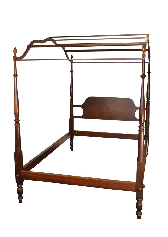 Vintage Mahogany Country Style Period Type Canopy Bed