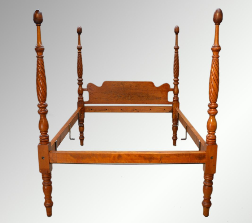 Antique Early Sheraton Canopy Bed Full Size