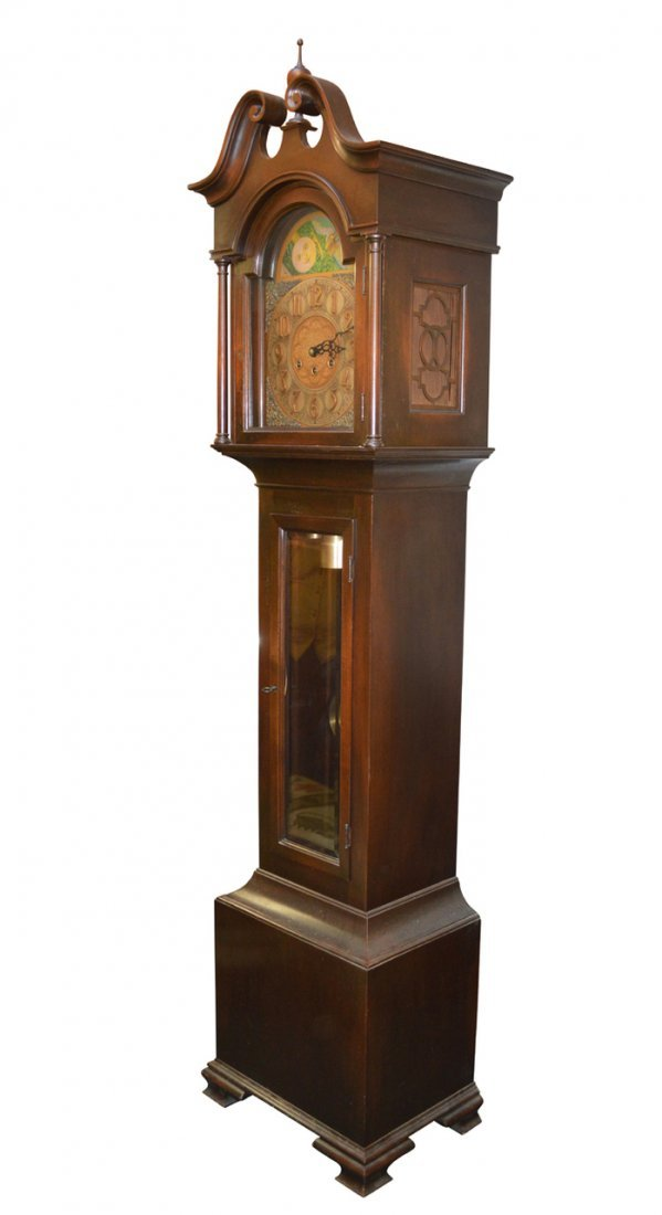Antique Mahogany Grandfather Clock - Westminster Chimes