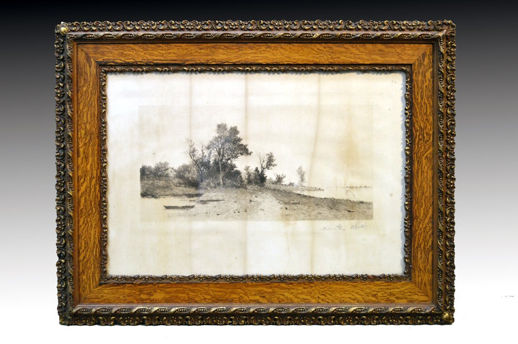 Antique Victorian Oak Multi-Carved Picture Frame