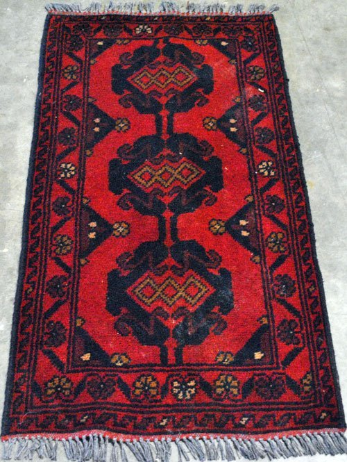 TRIBAL RUG WITH OUTSTANDING EASTERN MOUNTAINS'