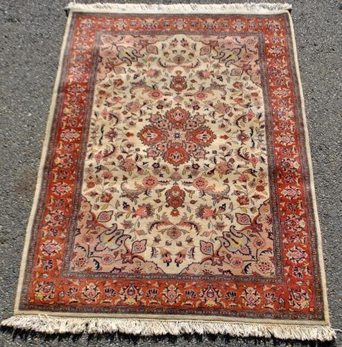 ABSOLUTELY BREATHTAKING ISFAHAN DESIGN HAND WOVEN RUG,