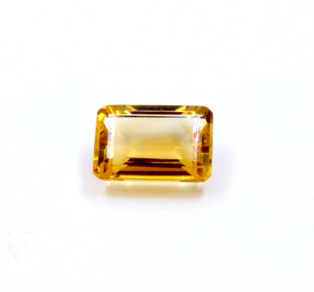 6 ct & up Citrine Emerald Cut Loose Stone