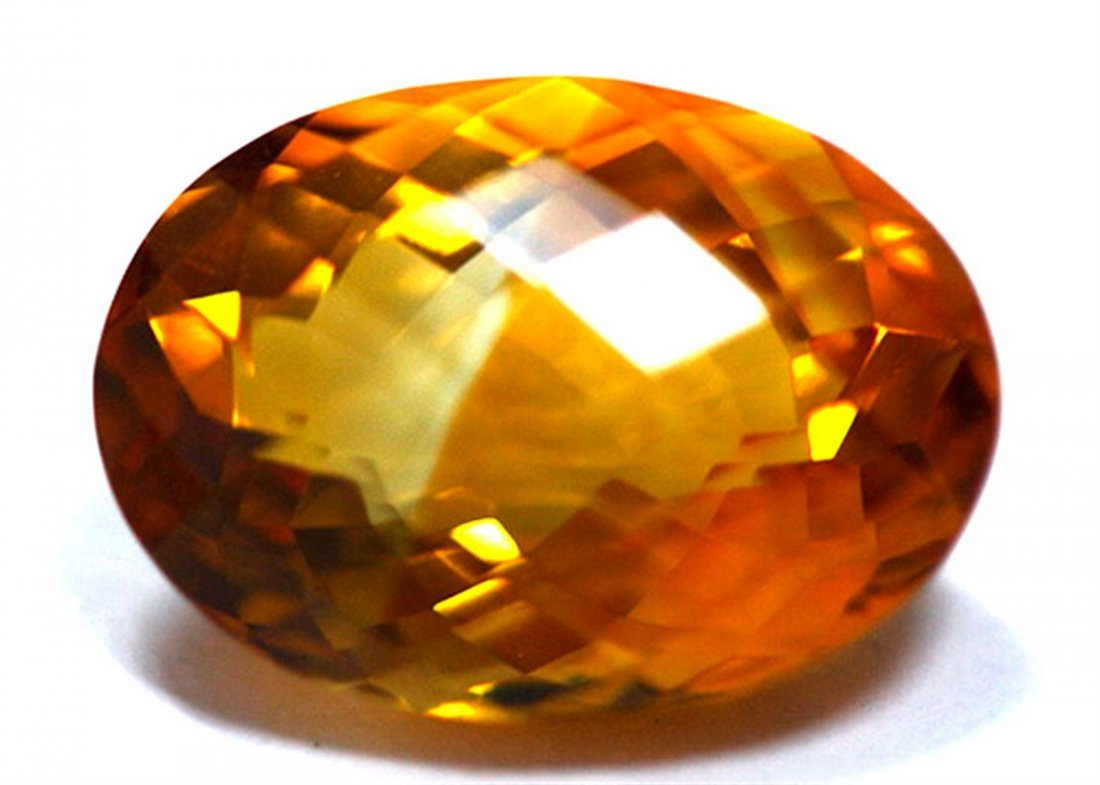 7.15 ct & up CITRINE OVAL CUT