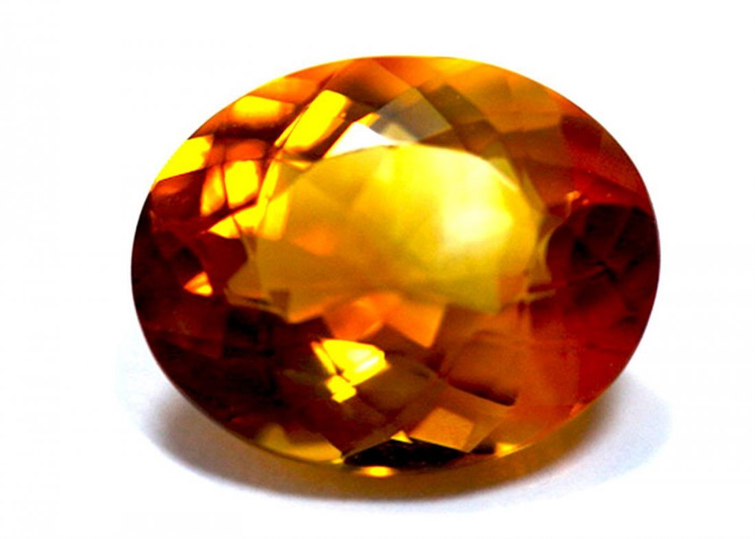 6.80 ct & up CITRINE OVAL CUT