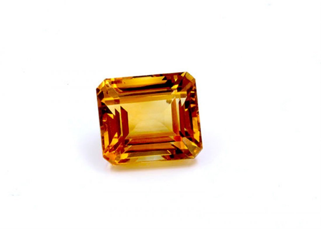 22 ct & up Citrine Emerald Cut Loose Stone