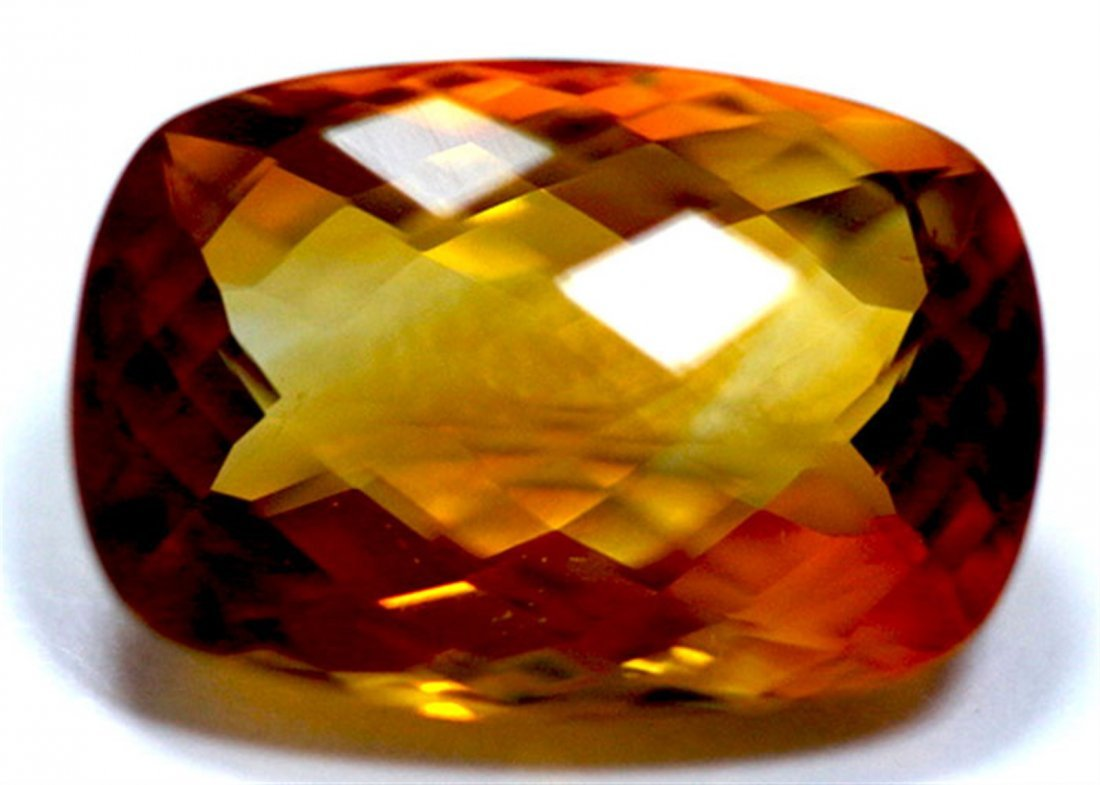 11.30 ct & up CITRINE CUSHION CUT faceted