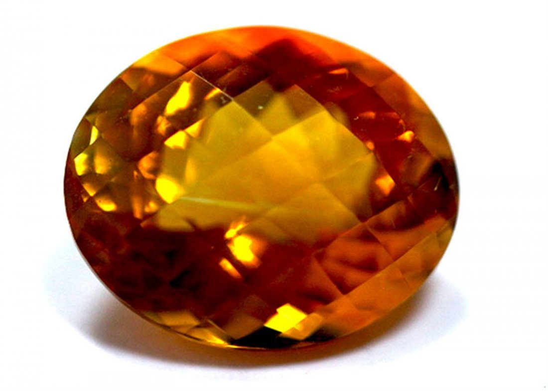 12.15 ct & up CITRINE OVAL CUT