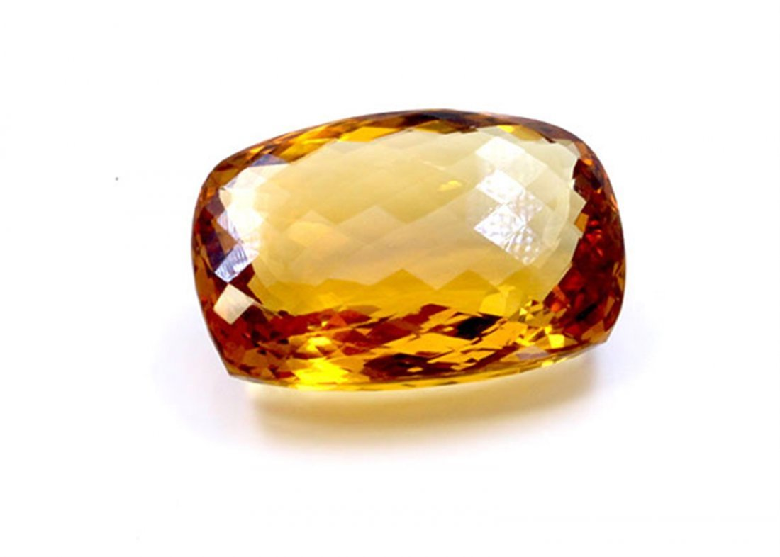 27 ct & up Citrine Cushion Cut Faceted Loose Stone
