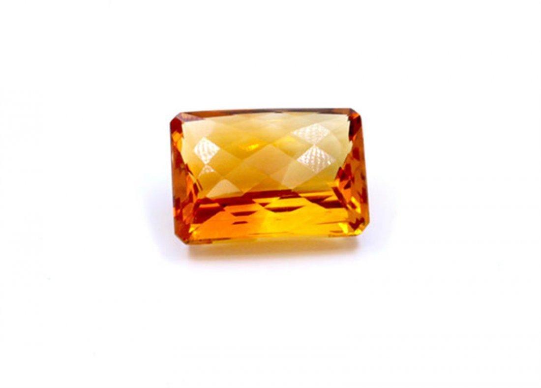 20 ct & up Citrine Emerald Cut Loose Stone