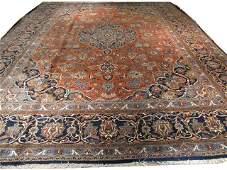 13x17 Handmade Oriental Persian Kashan Rug Copper Red