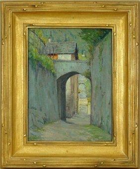 Street In Varenna Lake Como, Charles W. Eaton