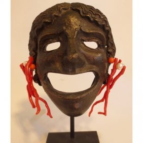 Grand Tour Bronze Theater Mask