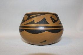 Native American San Ildelfonso Pottery Jar By Cavan