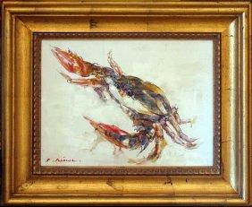 Lobster Colorful Rare Sale Framed Original Acrylic Art