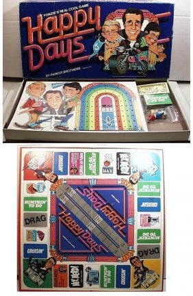 """Vintage Happy Days """"fonzie's Really Cool Game"""" Board"""