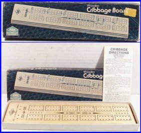 Vintage 1975 Cribbage Board Game By E.s. Lowe / Milton