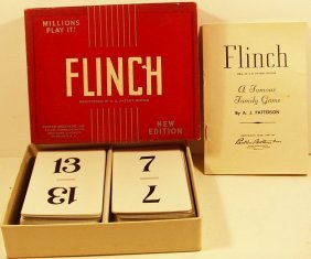 Vintage 1951 Flinch Card Game By Parker Brothers, A