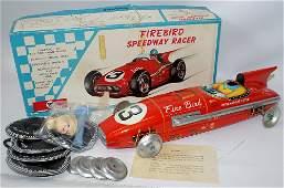 Vintage 50's Tin Friction FIREBIRD SPEEDWAY INDY RACER