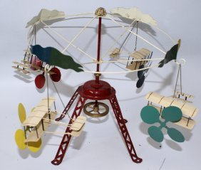 Vintage Steam-driven Merry Go Round Airplanes, By M&k