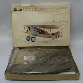 Vintage 1965 Revell Spad Xiii Wwi French Fighter
