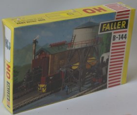 Vintage Ho Scale Faller B-144 Water Tower Tank Kit,