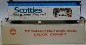 Vintage Ahm Ho Scale Scotties Billboard Advertising Box