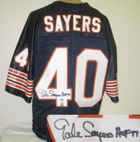 Gale Sayers Autographed Chicago Bears Jersey W/hof