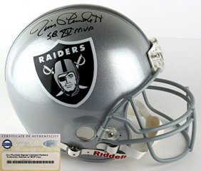 Jim Plunkett Signed Oakland Raiders Riddell Authentic