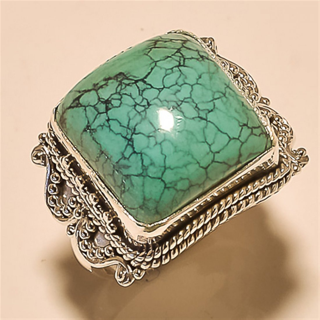 Turquoise RING Solid Sterling Silver