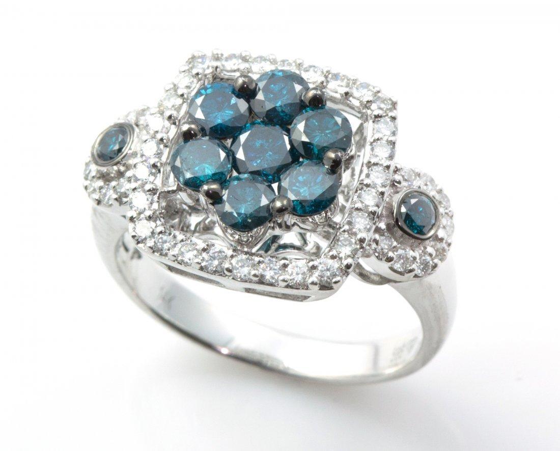 Diamond Ring set In 14K White Gold