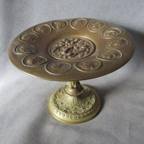 Antique Bronze Tazza Calling Card Receiver, Grand Tour